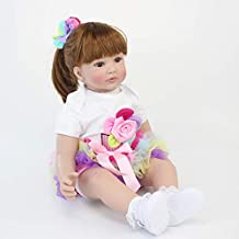 Zero Pam Reborn Toddler Girls Long Hair Handcrafted Realistic Reborn Baby Dolls Newborn Weighted Lifelike Baby Dolls Girl for Toddler Passed ASTM F963