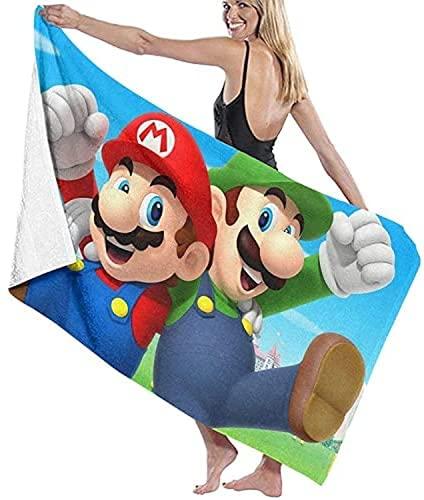QWAS Super Mario - Toalla de playa de secado rápido, ideal para viajes, playa, natación, baño, camping y picnic (2,80 x 180 cm)