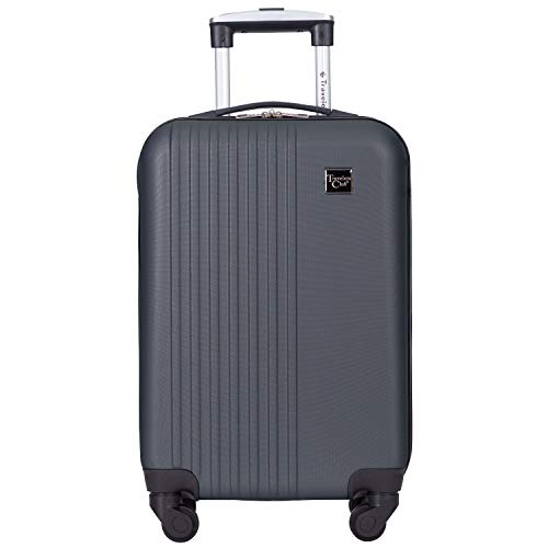 Travelers Club Cosmo Luggage, Charcoal Grey - 20 Inch, 20-Inch
