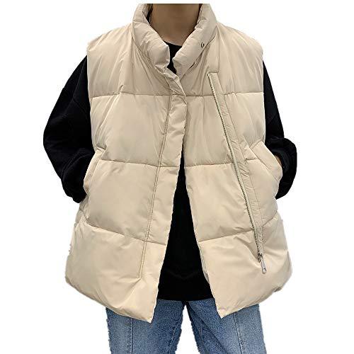 Chaleco de invierno para hombre, suelto, grande, informal, cálido, sin mangas