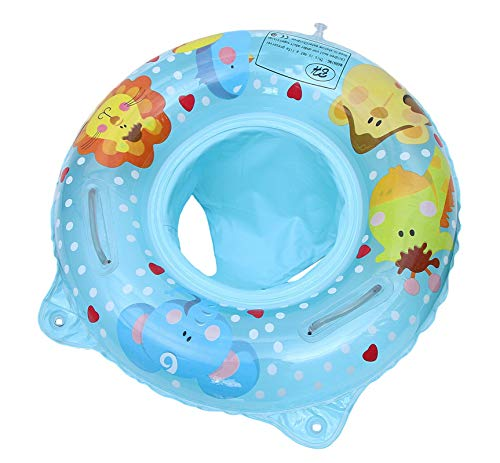OUHO Salvagente Anello di Nuoto Bambino Seggiolino Gonfiabile Sicurezza Piscina Galleggiante Estate 6 a 36 Mesi di Bambini (Blu)