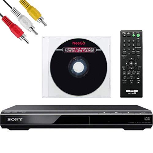 Sony DVPSR210P DVD Player - AV Cable - NEEGO Lens Cleaner