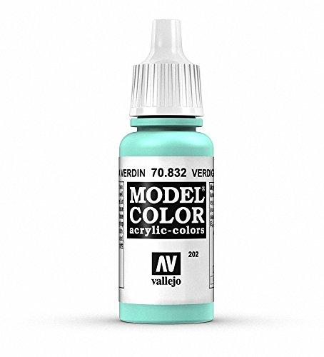 Vallejo Model Color Pintura Acrílica, Verde (Verdigris Glaze), 17 ml