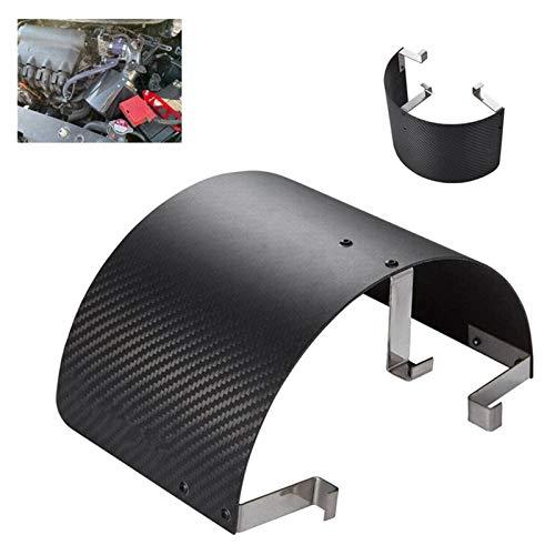 Auto Kaltlufteinlasskegel Sport Luftfilterabdeckung Bewegung Luftfilterabdeckung Hitzeschild Kohlefaser (Color : Carbon Fiber)