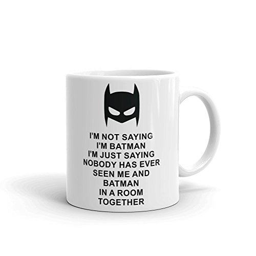 I'm Not Saying I'm Batman Ceramic Mug, White, 330ml