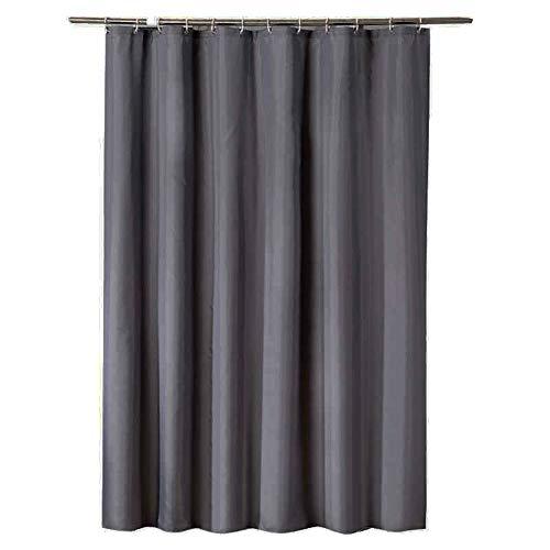 CXL Dicker Duschvorhang aus Polyestergewebe, wasserdichter Duschvorhang, dunkelgrauer Trennvorhang