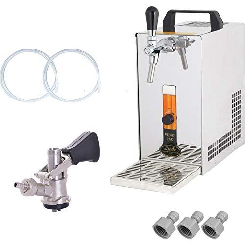 Bierkühler Zapfanlage Bierzapfanlage mit Membranpumpe & KEG Korb - 25 Liter/h