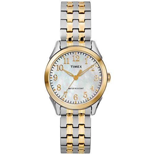 Timex Women's TW2R48400 Briarwood Two-Tone/MOP Stainless Steel Expansion Band Watch