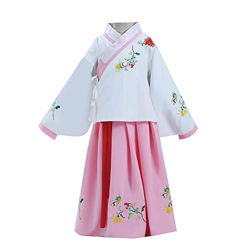 Best Price FXNN Hanfu - Costumes, Skirts, Guzheng, Autumn and Winter Clothing (Color : Pink+White, S...