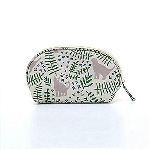 Sac cosmétiques Voyage Portable Shell Necessaries Make Up Case Organisateur Beauté Sac coréen Solide Couleur Toiletry Femmes Mini Sac à Main (Color : Cat)