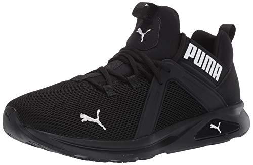 PUMA Men's Enzo 2 Sneaker, Black White, 11 M US