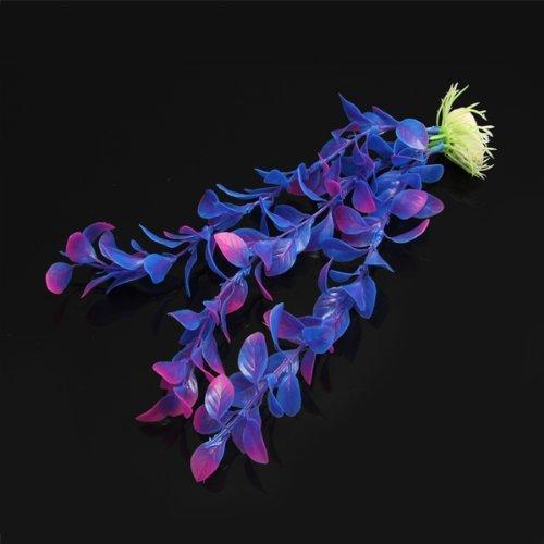 Planta Artificial Plástico Decoración para Acuario Pecera Color Azul