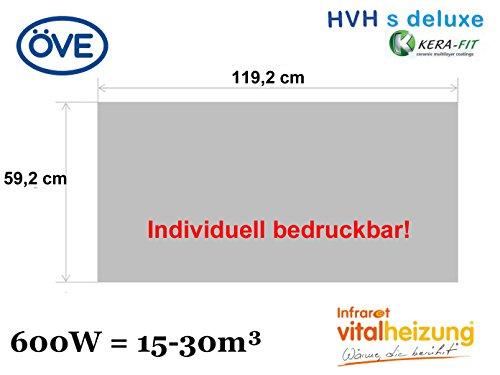 600W Infrarotheizung, bedruckbares Heizpaneel, optimierte Heizleistung, 60x120cm, Vitalheizung HVH600 s-deluxe