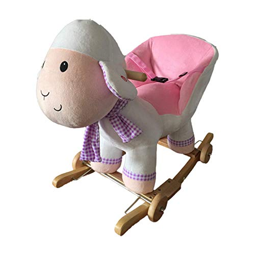 NEW Plush SHEEP / LAMB Rocking Chair Animal on Wooden Rockers with Sound Effects