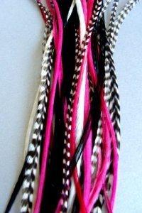 Sexy Sparkles Extensions de cheveux en plumes collées 15-28 cm