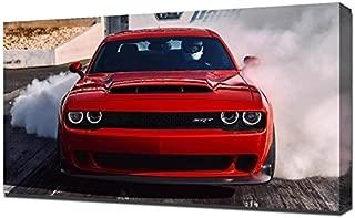 Lilarama USA 2018 Dodge Challenger Srt Demon Burnout - Canvas Art Print - Wall Art - Canvas Wrap