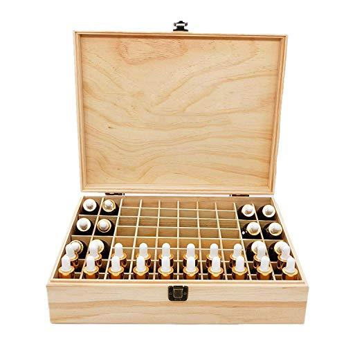 CHSEEO Caja de Aceites Esenciales para 68 Botellas Caja de Almacenamiento de Aceite Contenedor Estuche Organizadores para Cuentagotas, Aceite Esencial, CosméTica #3