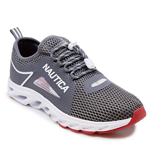 Nautica Men's Water Shoes Jogging Quick Dry Pool Sports Sneaker -Aivin-Grey-7