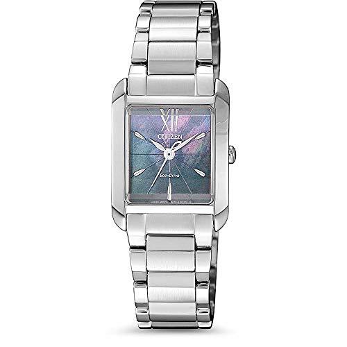 Citizen Damen Analog Eco-Drive Uhr mit Edelstahl Armband EW5551-81N