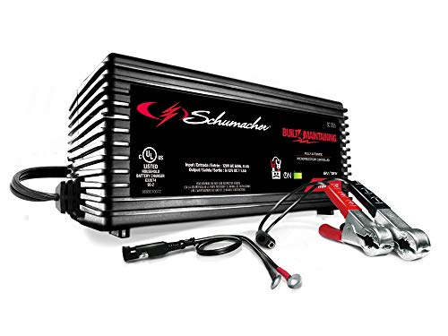 Schumacher Fully Automatic Battery Maintainer - 1.5 Amp, 6/12V - For Car, Power Sport, or Marine Batteries