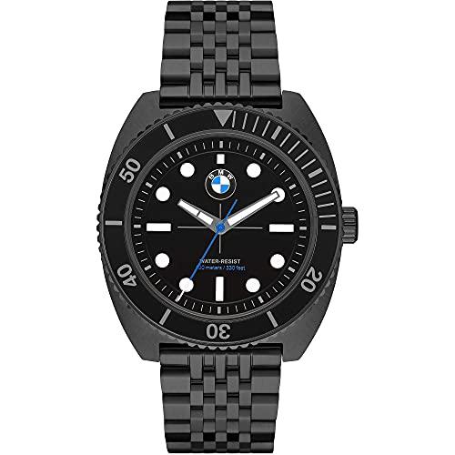 BMW - Reloj BMW Analógico de Cuarzo con Correa de Acero Inoxidable Negra para Hombre BMW6011