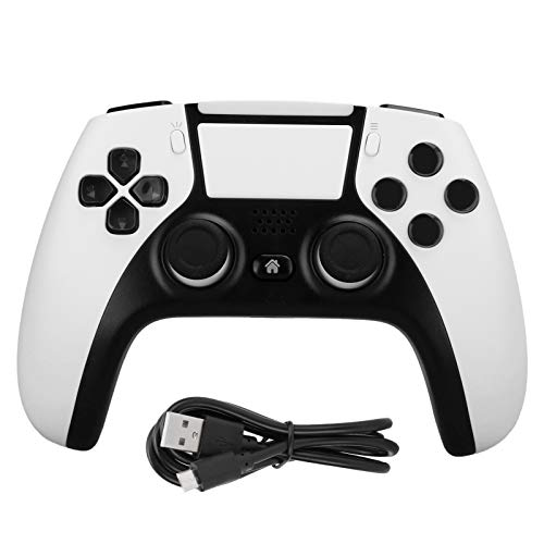Aukson Gaming Controller, Wireless Gamepad Controller für PS4/für PC (Win7/8/10)/für Android-Telefone Zweipunkt-Induktions-Touchpanel(Weiß)