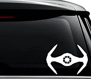 Imperial Tie Fighter Decal Sticker For Use On Laptop, Helmet, Car, Truck, Motorcycle, Windows, Bumper, Wall, and Decor Size- [20 inch] / [50 cm] Wide / Color- Matte Black