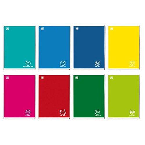 Blasetti Colorface notitieblok 36 vellen, meerkleurig, A4 - notitieblok (36 vellen, veelkleurig, A4, 100 g/m², geruit papier, staple binding)