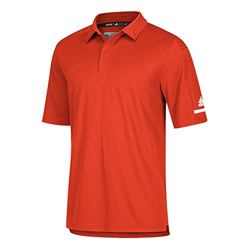 adidas Team Iconic Coaches Polo L Collegiate Orange-White