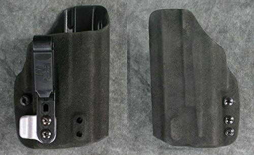 HSP Haley Strategic G-Code Incog Shadow Eclipse Half Guard IWB Tuckable Holster with Brushed Aluminum Super Mojo fits Surefire XC1 (Glock 19 23 32, Right)
