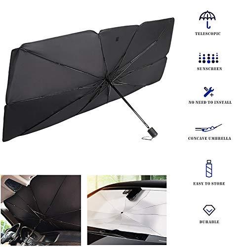 Parasol Coche Delantero protección Sombrilla UV Plegable Ventana Delantera del AutomóVil Protector...