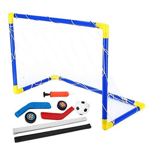 Fußball Tor Netz, Kinder Fußball Eishockey Tor Netz Set 2 in 1 Mini Kinder Hockey Fußball Ziel Sportspielzeug