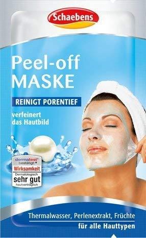 Schaebens Peel-off Gesichtsmaske - verfeinert das Hautbild (10 x 15mL für 10 Anwendungen)