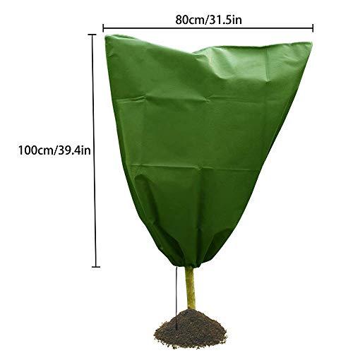 Housse de Plante Hiver Chaud Couverture Arbre Arbuste Plante Protéger Sac Gel Protection Cour Jardin, 80x100cm (1)