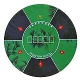 LQIAN Fieltro De Mesa De Craps Mantel de póker 1.2m Caucho Poker Mantel Mesa Azul Mesa de Mesa con patrón de Flores Casino Tablero Juego Poker Poker Accesorios 1pcs
