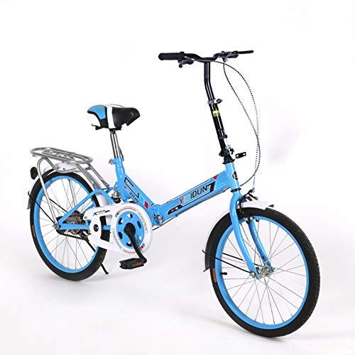 HWZXC Frauen-Faltbare Fahrräder, Erwachsene, die Fahrrad-Damen-Fahrrad-Männer und Frauen-Art-Studenten-Auto-Faltbare Fahrräder Falten