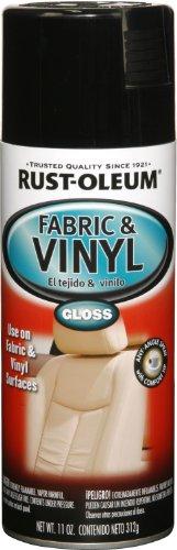 Rust-Oleum Black 248918 Automotive Fabric & Vinyl Spray Paint, 11-Ounce, Gloss