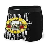 Gun-S and RO-SES Men's Boxers Underwear Comfort Breathable Stretchable Boxer Briefs Black
