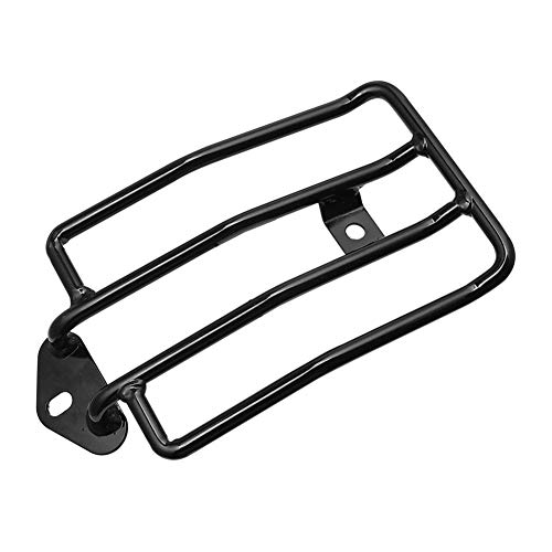 ZXC Black Motorcycle Rear Solo Seat Luggage Rack Support Shelf Fit For Harley Sportster Iron XL 883 1200 2004-2019 2018 2017 2016 2015 Installation Is Simple and Convenient