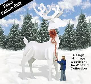 GINORMAS White Reindeer Pattern
