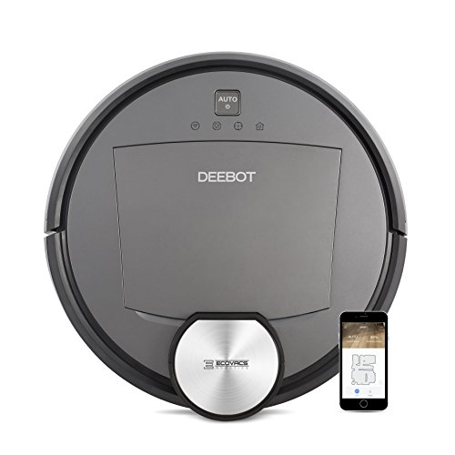 ECOVACS DEEBOT R95 Robotic Vacuum with the latest mapping technology, perfect for bare floors and carpets, and homes with pets, Wifi enabled, Compatible with Alexa