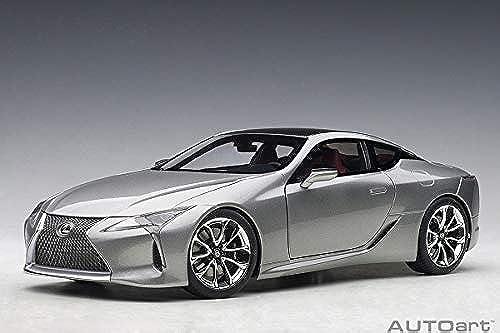 Lexus 78871 LC 500 (Sonic Titanium metallic Dark Rosa Interior) 1 18 Autoart