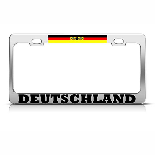 Maan Duitsland Vlag Eagle Deutschland License Plaat Frame Duitse Pride SUV Auto Tag Perfect voor Mannen Vrouwen Auto garadge Decor