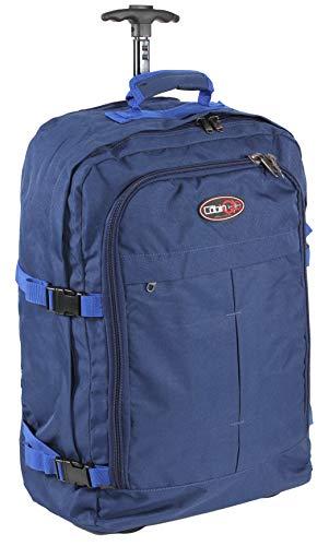 CABIN GO 5530 Trolley Zaino bagaglio a mano/cabina da viaggio leggero con Ruote e Tracolle a Scomparsa, Valigia Borsa da cabina 55x40x20 cm 44 litri. Approvato volo IATA/EasyJet/Ryanair