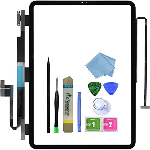 """Touch Screen Replacement for Black iPad Pro 11"""" 1st Generation 2018 Digitizer Panel Glass Assembly Modle A1980 A2013 A1934 A1979 with Toolkit(No LCD)"""
