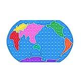Bubble comodo: questo puzzle di mappa del mondo Puzzle gioca giocattoli ha divertente infinito, basta premere la bolla del mouse, faranno un suono leggero, e poi lo accenderanno e ricomincia. Giocattoli calmanti: i kit per gli strumenti anti-ansia so...