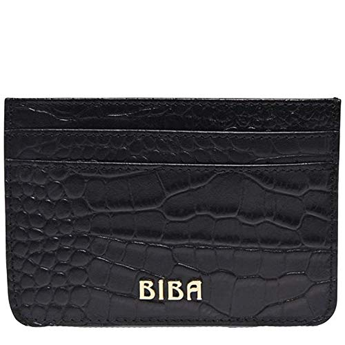 Biba Womens Textured Leather Multiple Card Holder (Croc, One Size)