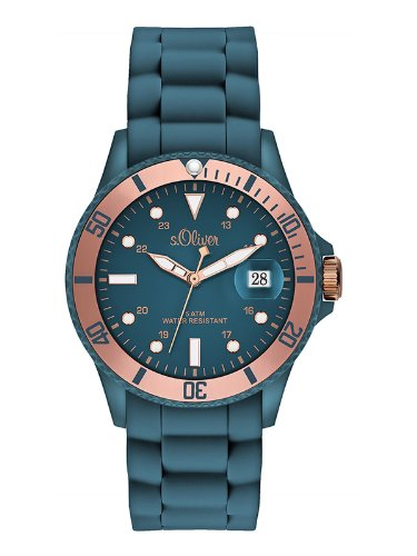 s.Oliver Damen-Armbanduhr Analog Quarz Silikon SO-2554-PQ