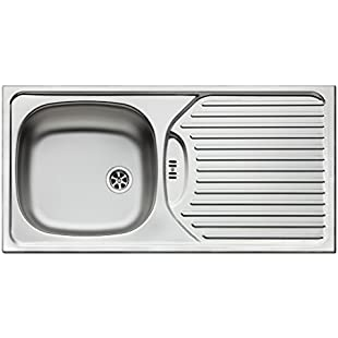 Pyramis 100120402 CA1 Sink Unit Stainless Steel, Smooth