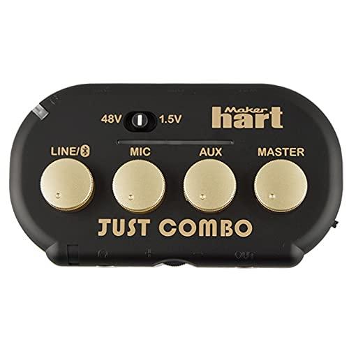 Maker hart Just Combo 3チャンネル マイク 超小型ウェブキャスティング配信用オーディオミキサー Bluetooth入力 USB AUDIO OUT対応